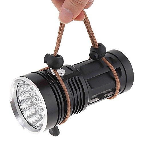 Euone  Flashlight Clearance Sale , 45000LM 18 x CREE XM-L T6 LED 4 Modes Flashlight Torch 4 x 18650 Hunting Lamp ()