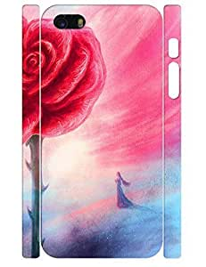 For SamSung Galaxy S5 Mini Case Cover es Blue and Rose Flower in Full BloHard Back Plastic Case Authentic