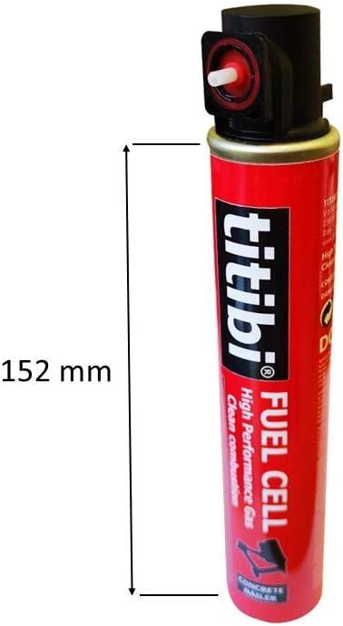 HITACHI 165 mm, 37g, 70ml 1 bouteille de gaz pour Cloueur pour b/éton : TITIBI Cartouche de gaz P900 SENCO Autre Bea Makita 1000 X TITIBI clous de haute qualit/é , /Ø 2,6 x 20mm