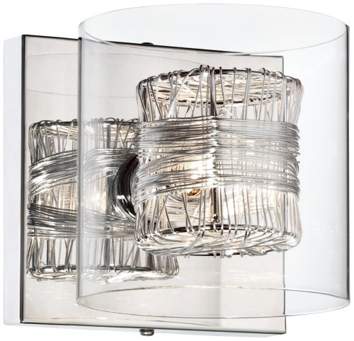 Possini Euro Design Wrapped Wire 5 High 1 Light Wall Sconce