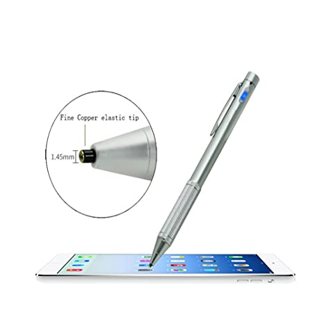 BEESCLOVER Capacitive Stylus Pen Fine Point Stylus Active Stylus Pen Clip Compatiable Most Touch Screen Device Black