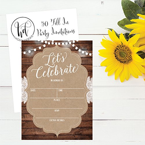 50-Celebration-Invitations-for-Wedding-Rehearsal-Dinner-Bridal-Shower-Engagement-Birthday-Bachelorette-Party-Baby-Shower-Reception-Anniversary-Housewarming-Graduation-Sweet-16-BBQ-Cookout