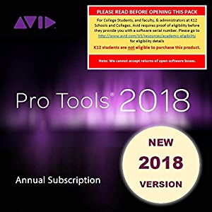 Avid Pro Tools 2018 Academic Annual Subscript...