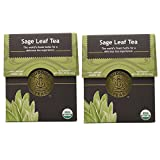Organic Sage Leaf Tea - Kosher, Caffeine Free, GMO-Free - 18 Bleach Free Tea Bags (Pack of 2)