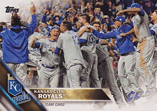 (Kansas City Royals 2016 Topps MLB Baseball Regular Issue Complete Mint 30 Card Team Set with Alex Gordon Eric Hosmer World Series Highlights)