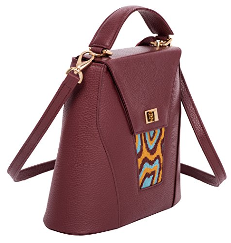 Designer Tati Boduch Handbag Brown Genuine Collection Leather Knitwear Turquoise Agate ZZfP5qw