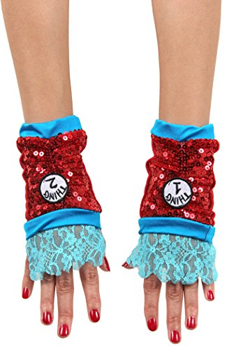 [elope Dr Seuss Cat in the Hat Thing 1&2 Kid's Sequin Glovettes] (Thing One Dr Seuss Costume)