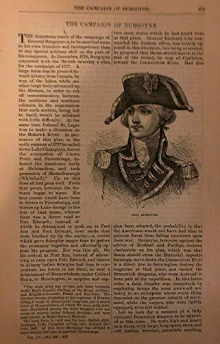 1877 Burgoyne Campaign Revolutionary War Horatio Gates General Philip Schuyler