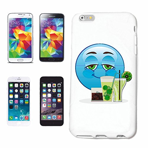 "cas de téléphone Samsung Galaxy S3 i9300 ""MERRY SMILEY AVEC COCKTAIL ET LONGDRINK ""smile EMOTICON APP de SMILEYS SMILIES ANDROID IPHONE EMOTICONS IOS"" Hard Case Cover Téléphone Covers Smart Cover pour"