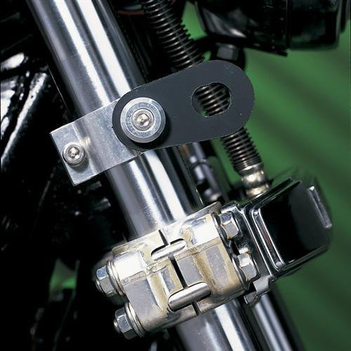 Memphis Shades 05-10 Harley FLSTN3 Turn Signal Relocation Kit (Without OEM Lightbar) (Silver) ()
