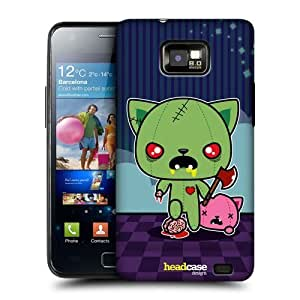 AIYAYA Samsung Case Designs Mad Kitty Kawaii Zombies Protective Snap-on Hard Back Case Cover for Samsung Galaxy S2 II I9100