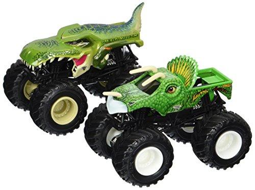 2017 Hot Wheels Monster Jam Demolition Doubles - Mega-Wrex Vs. Jurassic Attack 1:64 Scale
