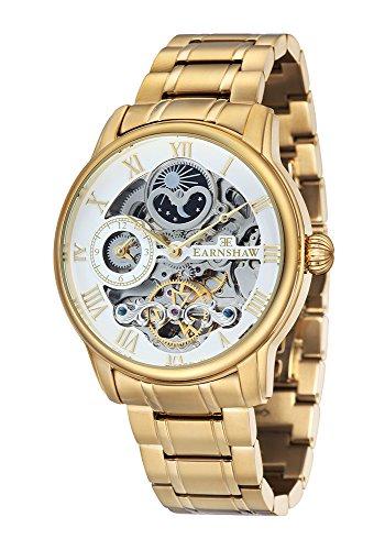 Thomas Earnshaw ES-8006-22 Mens Longitude Yellow Gold Plated Automatic Watch