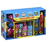 Bazooka Candy Brands, Back to School Lollipop Variety Pack w/ Assorted Flavors of Ring Pop, Push Pop, Baby Bottle Pop, and Juicy Drop Pop (18Count Box)