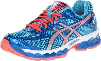ASICS Women's GEL-Cumulus 15 Running Shoe,Turquoise/Lightning/Electric Melon,5.5 M US