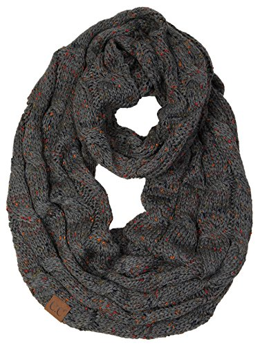 - S1-6033-70 Funky Junque Infinity Scarf - Charcoal (Confetti)