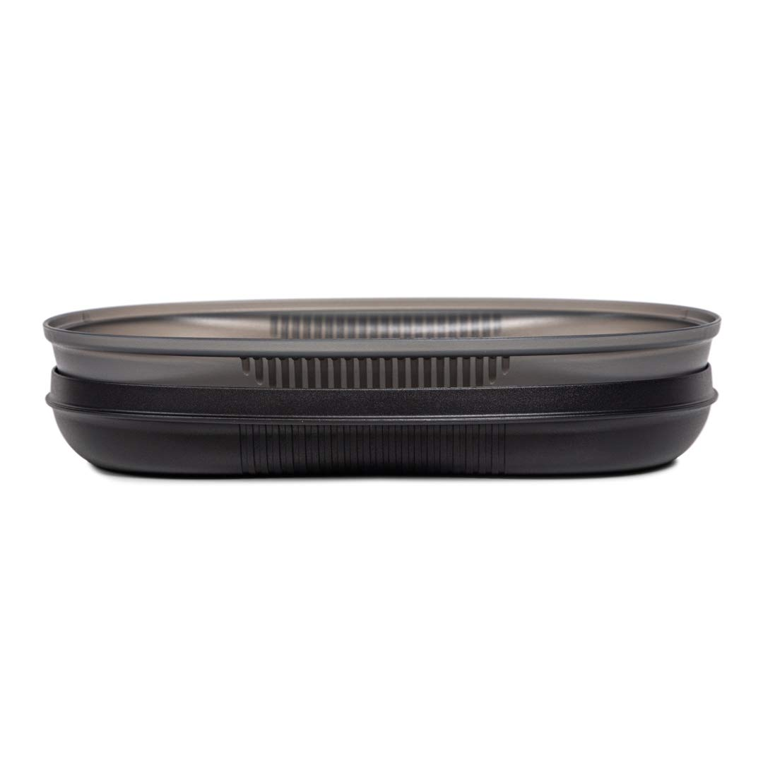 Tupperware Microwave Safe Cooking Container Breakfast Maker 430ml-Plastic (black)
