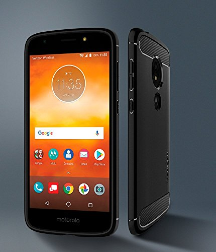 Spigen Rugged Armor Moto E5 Play Case with Flexible and Durable Shock Absorption with Carbon Fiber Design for Motorola Moto E5 Play (2018) - Black by Spigen (Image #2)