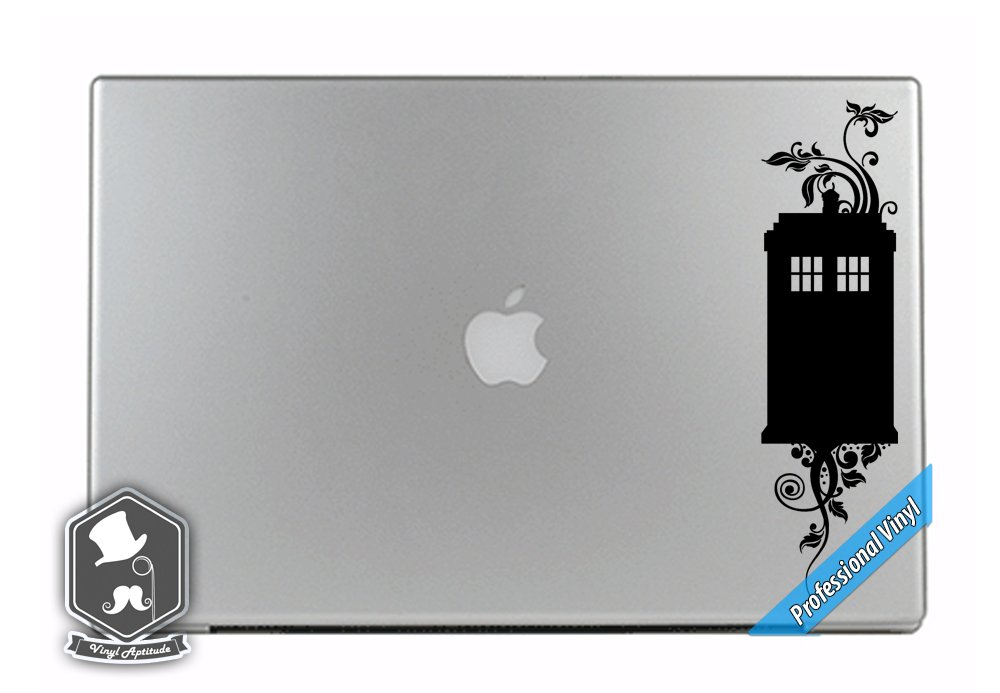 Dr Who Inspired Floral Tardis Police Phone Box TV Show Art Vinyl Decal  Sticker for Apple MacBook Dell HP Alienware Asus Acer or Any Laptop  Notebook PC