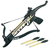 Easy Cocking Crossbow - Hunting Pistol 80lbs Aluminum Self Cocking Crossbow