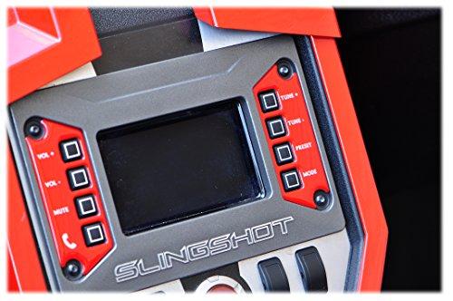 TUFSKINZ - Polaris Slingshot Bezel Inserts - Gloss Red, White, Black, Brushed Aluminum (Red)