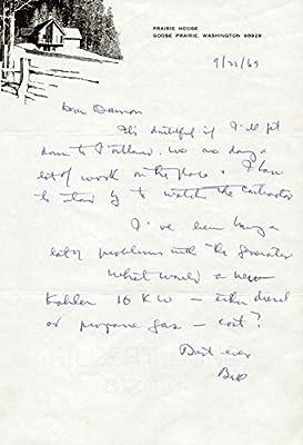 Amazon com: Associate Justice William O  Douglas - Autograph Letter