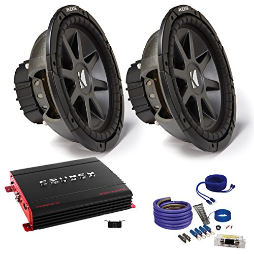 "Kicker CVR122 12"" Bundle with MB Quart ZA2-1000.1D 1000 Watt Mono Amplifier, Wire Kit"