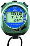 Thomas 1032 ABS Plastic Traceable Stopwatch, 1 Hr in 1/100 Sec, 3'' Length x 2-1/2'' Width x 3/4'' Thick