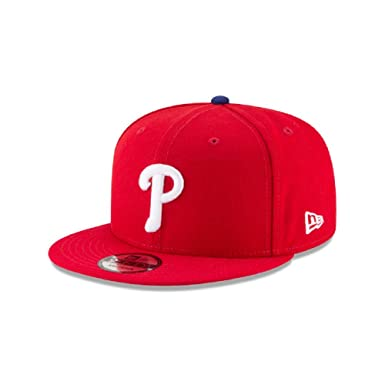 d195ff00964c3 Image Unavailable. Image not available for. Color  New Era Philadelphia  Phillies Team Color 9FIFTY Adjustable Hat Red