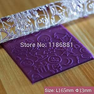 2014 New ghosts Shape Transparent Embossing Rolling Pins sugar craft tools Fondant Cake Decoration HYE-482