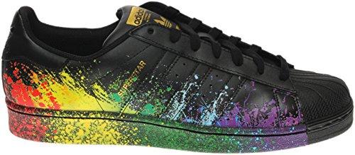 Adidas Originals Para Hombre Superstar Core Black / Core Black / Gold Met