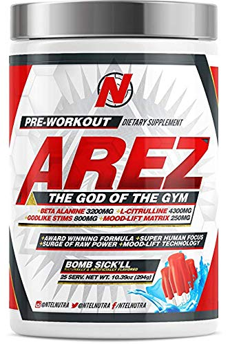 AREZ God of The Gym Pre-Workout (Bomb Sick'll)