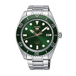 Seiko Series 5 Automatic Green Dial Mens Watch SRPB93