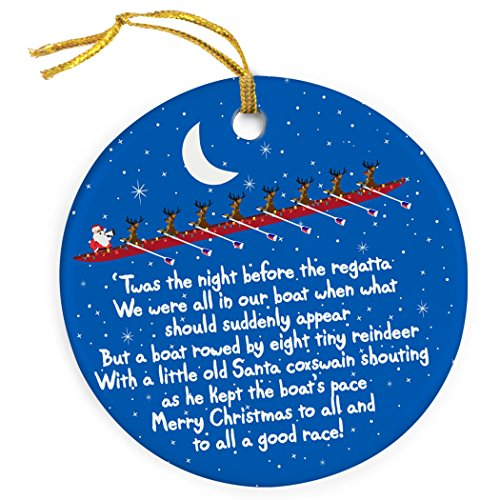 Reindeer and Santa Ornament | Crew Porcelain Ornaments by ChalkTalk SPORTS | Multiple Colors