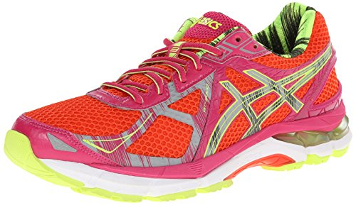 ASICS Women's GT-2000 3 Lite-Show Running Shoe, Cherry Tomato/Lite/Safety Yellow, 6 M US (Womens Asics 2000 3 Running Shoes compare prices)