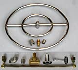 18″ LP Stainless Steel FIRE PIT DOUBLE RING GAS BURNER KIT PROPANE Whisper free Review