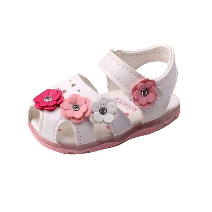Sandali con punta aperta con chiusura velcro per bambina VICQBvz