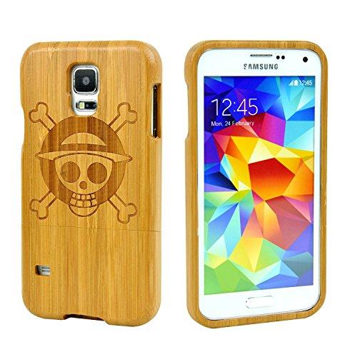 SunSmart Natürliche handgemachte Hartholz Bamboo Case für das Samsung Galaxy S5 mit freiem Schirmschutz (ein Stück)