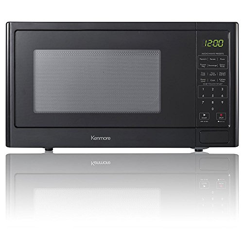 Kenmore 0.9 cu. ft. Countertop Microwave Oven - Black (Black Microwave Oven)