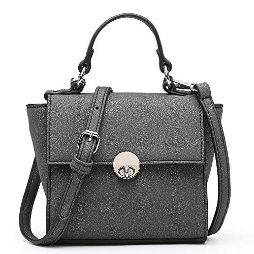 Zipper Strap Detachable (Shomico Mini Crossbody Bag Small Tote Shoulder Purse Cell Phone Wallet Girls Ladies Women (Katy Grey))