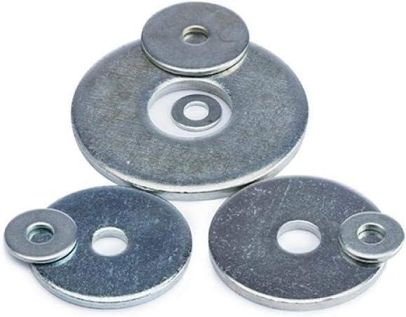 Arandela plana ensanchada galvanizada de hierro/arandela plana extra gruesa extra grande extragrande-18 * 47 * 2.5 (10 piezas)