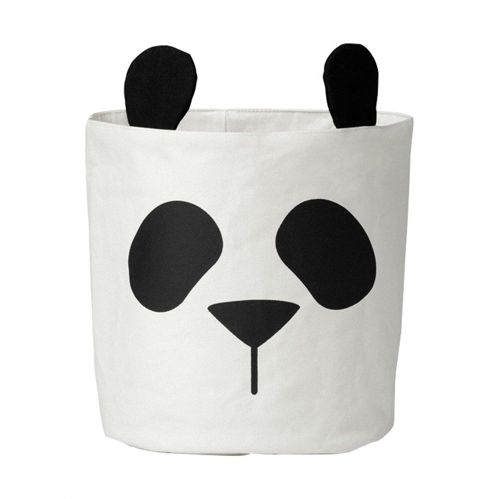 Sue Supply Panda Mignon Animal Sac de rangement pour enfant pour vêtements de bébé sur toile Panier à linge Sac de rangement Peut support Décoration de chambre 30* 40cm