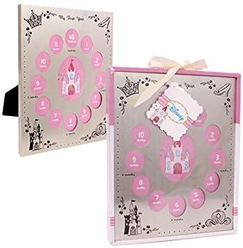 Amazon.com : Girls Disney My First Year Photo Frame Pink : Baby ...