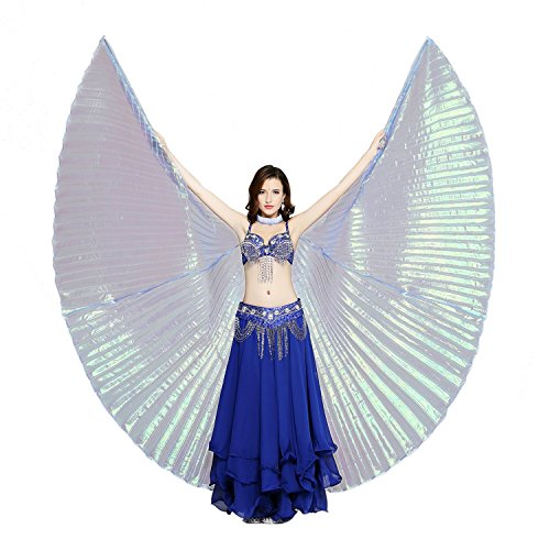 Dance Fairy Belly Dance Isis Wings,Dark Blue(no (Iridescent Fairy Wings)