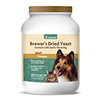 NaturVet – Brewer's Dried Yeast Formula with Garlic Flavoring – Plus Omegas – Rich...