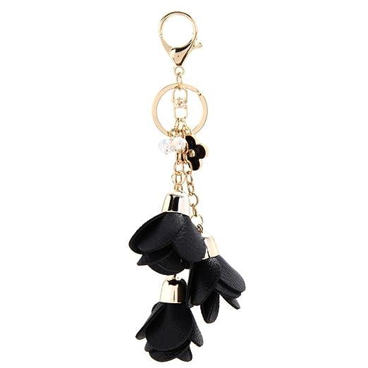 Pop Your Dream Charming Women Rose Keychain Crystal Tassel Car Bag Handbag  Pendant Valentine s Day Gifts ecba4d5c84
