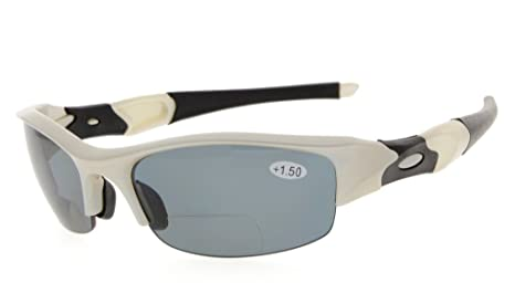 Gafas de sol de lectura bifocal polarizadas de media montura Gafas tintadas Estilo de diseño envolvente
