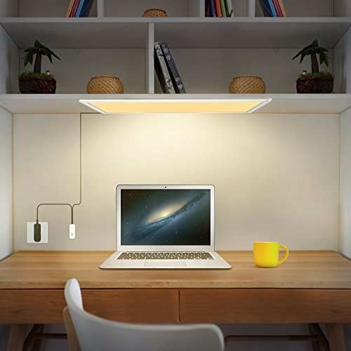 Under Cabinet Lighting, OxyLED Under Cabinet Lights, Extra Large Panel LED Under Cabinet Light, Dimmable LED Under Counter Lights for Kitchen, Art Studio, Attic (12W, 750lm, Warm White 3000K) by OxyLED (Image #4)