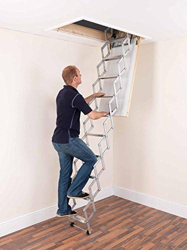 Alufix 1502-006 - Escalera para áticos (tamaño: 11 Tread): Amazon.es: Bricolaje y herramientas