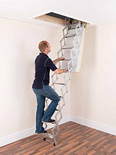 Alufix 2.19 Dachbodentreppe mit 9 Stufen, 2,4m, Ziehharmonika-System